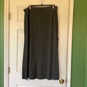 Charcoal maxi skirt